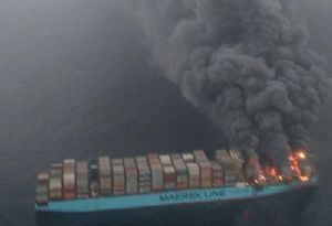 image: Denmark Maersk Honam tragedy fire at sea deaths container ship TEU dangerous cargo
