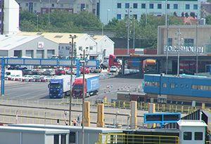 image: UK Caen Ouistreham vans trucks migrant crisis road haulage stowaway Santander Bilbao Border Force