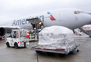 image: Cuba US Havana American Airlines belly hold cargo freight carrier express parcel mail