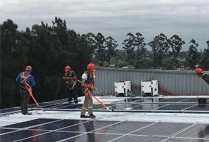image: Uruguay APM container handling terminal solar power