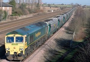 image: UK office Rail freight cargo intermodal bulk Environmental Gains tonnages