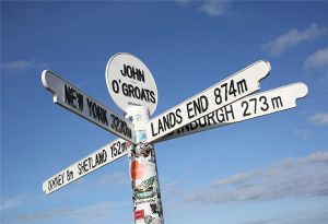 image: UK logistics freight forwarding road haulage drivers Transaid transport charity Lands End John O�Groats