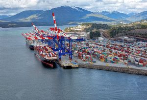 image: Canada DP World port of Prince Rupert logistics container terminal Fairview TEU