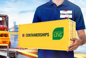 image: Finland France CMA CGM short sea feeder freight line container box ships Containerships