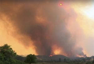image: US Crowley California wildfires shipping logistics transport full load trailer truck FLT