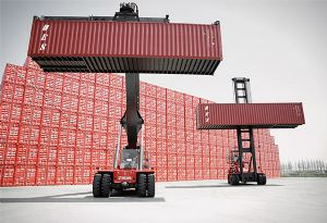 image: Finland China reachstackers container port handling equipment freight forwarding Shanghai