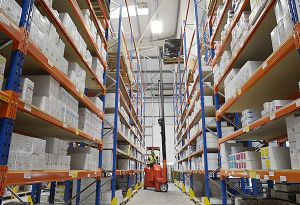 image: UK Narrow Aisle forklift trucks warehouse storage freight logistics H2Ecommerce (H2E)