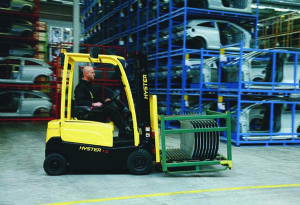 image: UK Hoppecke Industrial Batteries Briggs fork lift truck freight warehousing