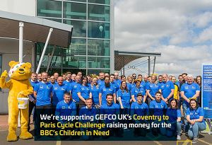 image: UK BBC Children in Need Appeal GEFCO bike ride multimodal logistics London Paris