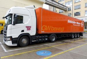 image: Austria freight forwarding logistics gas powered truck CNG Henkel air sea Euro VI