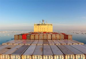 image: Maersk ocean freight container box line Arctic Northern Sea Route shipping
