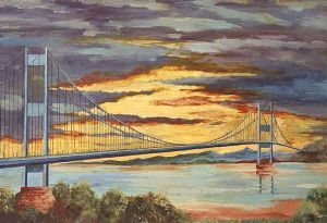 image: Severn Bridge tolls removal freight logistics road haulage Christmas present Wales England