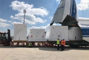 image: Nigeria Germany Volga Dnepr AN-124-100 gigantic freighter aircraft heavy lift project forwarding