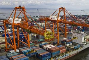image: Philippines International Container Terminal Services, Inc. (ICTSI) terminal Manila
