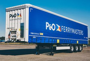 image: Poland Netherlands trailer truck road haulage train logistics transport huckepack cargo units P&O Ferrymasters