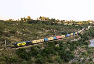 image: Spain MSC intermodal rail service freight road haulage cargo logistics