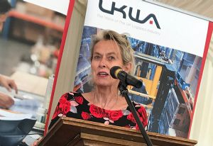 image: UKWA House of Lords reception warehousing logistics Karen Wheeler HMRC National Infrastructure Commission Brexit Baroness McIntosh Cross Government Border Delivery Group