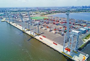 image: Australia Victoria port of convenience container terminal handling ICTSI ITF unions logistics ship owners