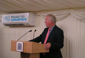 image: UK Mike Penning MP All Parliamentary road haulage group freight transport lorry parking supply chain