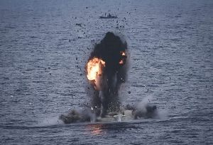 image: Somalia EU Navfor pirate KSL Sydney attack blow up whaler bulk carrier