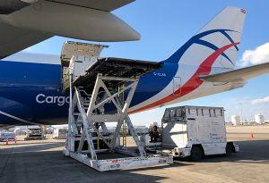 image: UK US Ireland CLA CargoLogicAir freight forwarders horse America 747 cargo