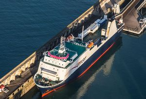 image: UK Freight passenger ferry Condor ferries RoRo protests RMT Macquarie maritime