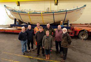image: UK AV Dawson Zetland Lifeboat heavy haulage company River Tees freight logistics