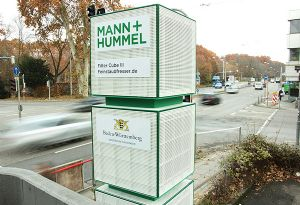 image: Germany diesel particulate filtration Mann + Hummel Stuttgart pollution emissions commercial vehicles