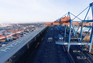 image: Germany Port of Hamburg container intermodal cargo freight modal option Hyperloop logistics