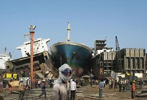 image: EU ship dismantling recycling seagoing vessels