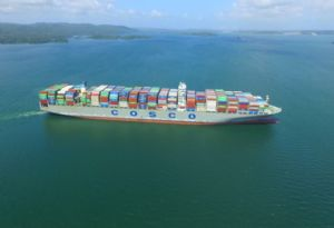 image: UK China scrubbers sulphur container ships road haulage Panama Canal SMMT