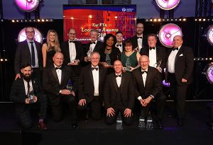 image: UK Royal Lancaster Hotel Dara Ó Briain supply chain logistics Freight Transport Association (FTA) Awards 2018