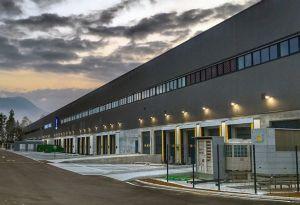 image: K+N freight forwarding logistics pharmaceutical warehouse distribution Ljubljana Airport Brnik Slovenia Kuehne Nagel
