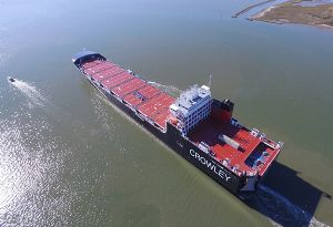 image: US Crowley Taino LNG vessel container Roll On Roll Off
