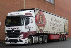 image: Scottish UK road haulage trucks Currie solutions logistics