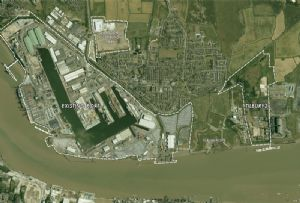 image: UK Port of Tilbury2 River Thames London Gateway RoRo ferry rail terminals bulk cargoes Forth