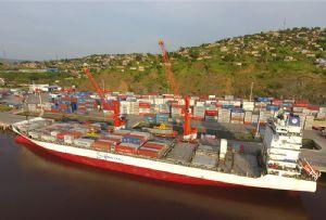 image: DEMOCRATIC REPUBLIC OF CONGO KINSHASHA Matadi port terminal TEU container freight railhead road haulage MGT ICTSI