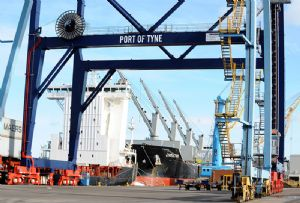image: UK Port of Tyne Lloyds Bank multimodal logistics container bulk conventional cargoes deep water loan