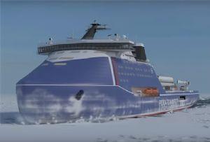 image: Russia US Rosneft Arctic Northern Sea Route icebreaking Lider Leader Vladimir Putin Polar Star Zvezda shipyard FSUE Atomflot