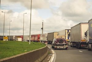 image: France UK Brexit French customs RoRo ferries trucks go slow work to rule strike lorries freight forwarders Woodland UNSA Union