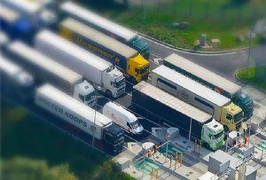 image: UK RoRo freight ferries Seaborne Seabourne express cross Channel Eurotunnel Bernadette Kelly