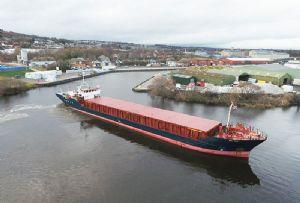 image: Perth harbour port cargoes freight CalMac ferries CalPort fishmeal