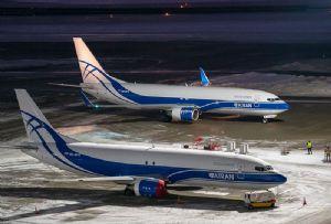image: Russia Atran Airlines Volga Dnepr Boeing 737 Max 800BCF air cargo express freight logistics
