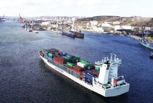 image: Austria Unifeeder D P World container freight multimodal 45 foot supply chain logistics exporters