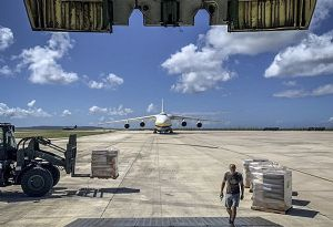 image: US Saipan Super Typhoon Yutu Antonov airlines Air Partner charter