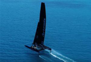 image: UK Artemis ocean yacht racing autonomous vessel electric wind hybrid catamaran UKRI decarbonise maritime transportation