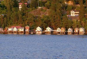 image: Norway Flaskebekk, mini tsunami Oslofjord fluid mechanics Miros ships wash wave form physics
