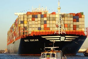 image: UK John Good container freight ocean deep sea services MSC Maersk TEU Triple E