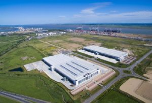 image: UK London Gateway logistics park river Thames MADE.COM distribution centre deep water container port freight retail