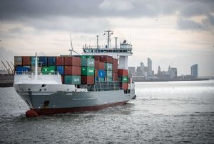 image: UK COSCO port of Liverpool Peel ports shipping line container TEU